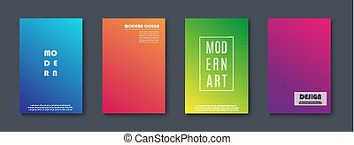 abstract, moderne, banners., set, vector, design.