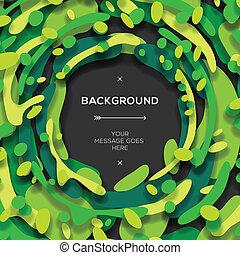 abstract, moderne, groene achtergrond, geometrisch