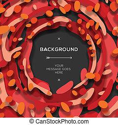 abstract, moderne, rode achtergrond, geometrisch