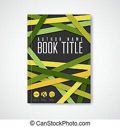 abstract, moderne, vector, ontwerp, mal, informatieboekje