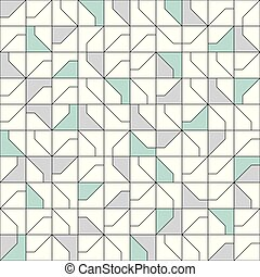 Abstract modernist style geometric tiles seamless pattern