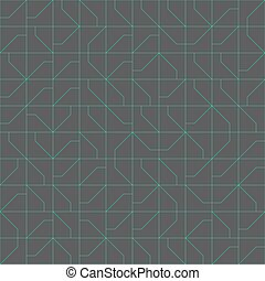 Abstract modernist style geometric tiles seamless pattern...