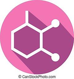 abstract, moleculair, bouwwerken, pictogram