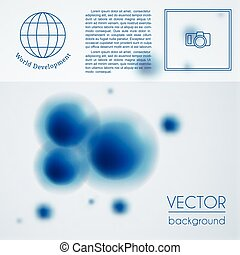 Abstract molecule background vector template - Blue abstract...