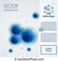 Abstract molecule background vector template