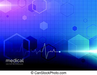 abstract molecule medical healthcare or pharmacy blue background