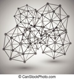Abstract molecule, vector