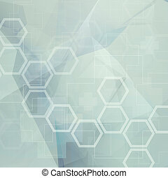 Abstract molecules low poly  medical background
