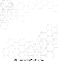 Abstract molecules medical background with copy space...