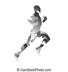 Abstract monochromatic runner