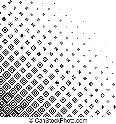 Abstract monochrome halftone background - Vector...