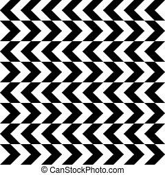 abstract monochrome horizontal chevron  seamless pattern