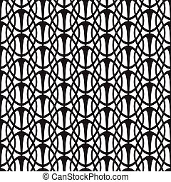 Abstract Monochrome Seamless Pattern