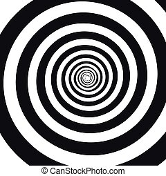 Abstract monochrome spiral vector illustration