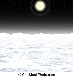 Abstract Moon landscape generated background