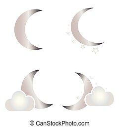 Abstract moon shape