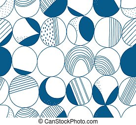 Abstract moon vector seamless pattern