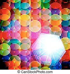 Abstract mosaic background made of colorful circles. Vector Illustration