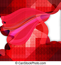 Abstract mosaic background with vector design elements.