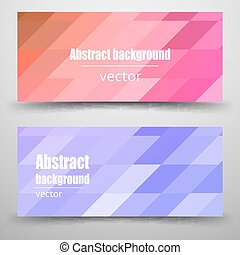 Abstract mosaic Banner.