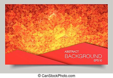 Abstract mosaic banner with square shapes