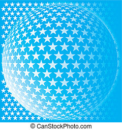 abstract mosaic - Star ball background abstract mosaic 3D-...