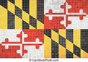 Abstract Mosaic flag of Maryland