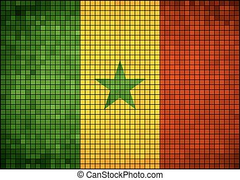 Senegalese flag pictures and vector, Senegal grunge mosaic flag
