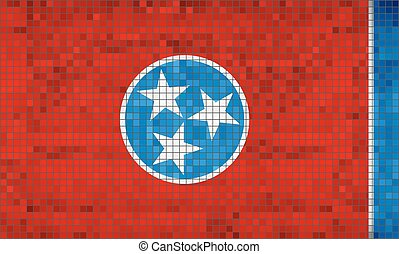 Abstract Mosaic flag of Tennessee