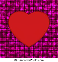Abstract mosaic glowing heart background. EPS 8