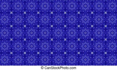 Abstract mosaic in blue color