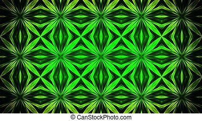 Abstract mosaic in green