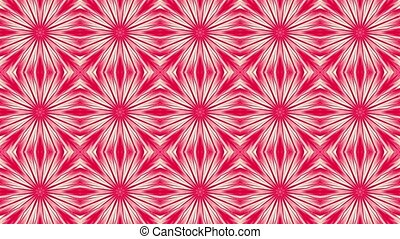 Abstract mosaic in red