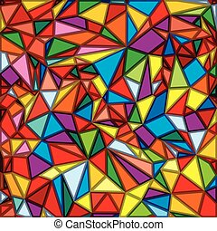 Abstract Mosaic Multicolored Vector Background