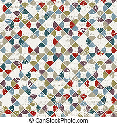 Abstract mosaic seamless background, vector geometric seamless p