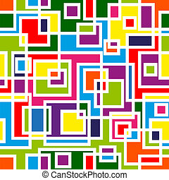 Abstract mosaic seamless pattern