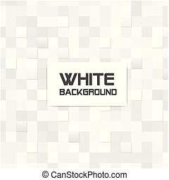 Abstract Mosaic Square White Background Vector Image