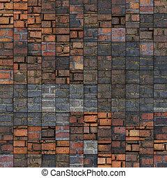 abstract mosaic tile grunge brick pattern