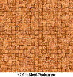 abstract mosaic tile orange brick pattern