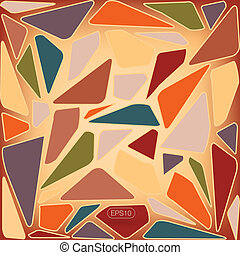 Abstract mosaic tile pattern