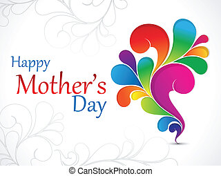 abstract mother day wallpaper vector illustration