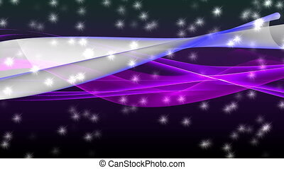 Abstract motion background, shining lights, energy waves and sparkling fireworks style particles, seamless loop able.