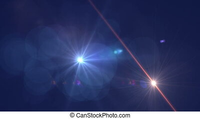 Abstract Motion Background With Lens Flares