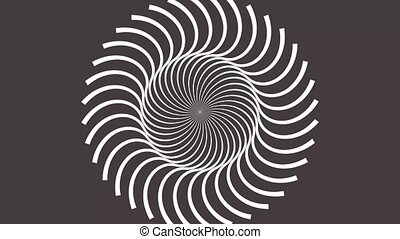 Abstract CGI motion background with rotating hypnotic spiral in perfect seamless loop