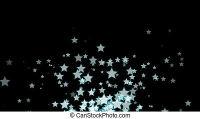 Abstract motion background with stars