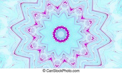 Abstract motion graphics background. Hypnotic mandala for...