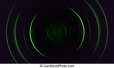 Abstract motion green lines with noise in 80s style, looping animation retro