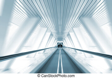 Abstract motion of escalator