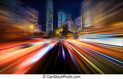 Abstract Motion speed City background
