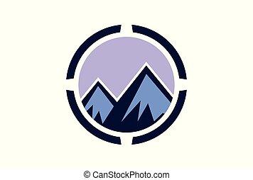 abstract mountain concept logo icon